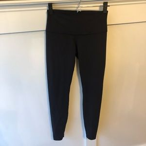 lululemon athletica Pants - Wunder Under High Rise Foldover Leggings 6 Black